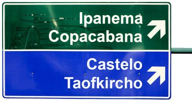 Ipanema direction road sign